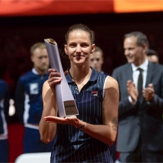 FILA Tennis Player Karolina Pliskova Wins Stuttgart Title